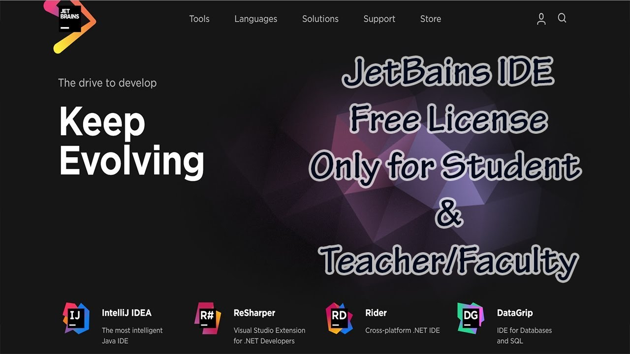 ► Jetbrains IDE - Apply for Free License Only for Student and  Teacher/Faculty