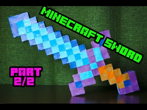 How To Make Paper Minecraft Sword 2/2