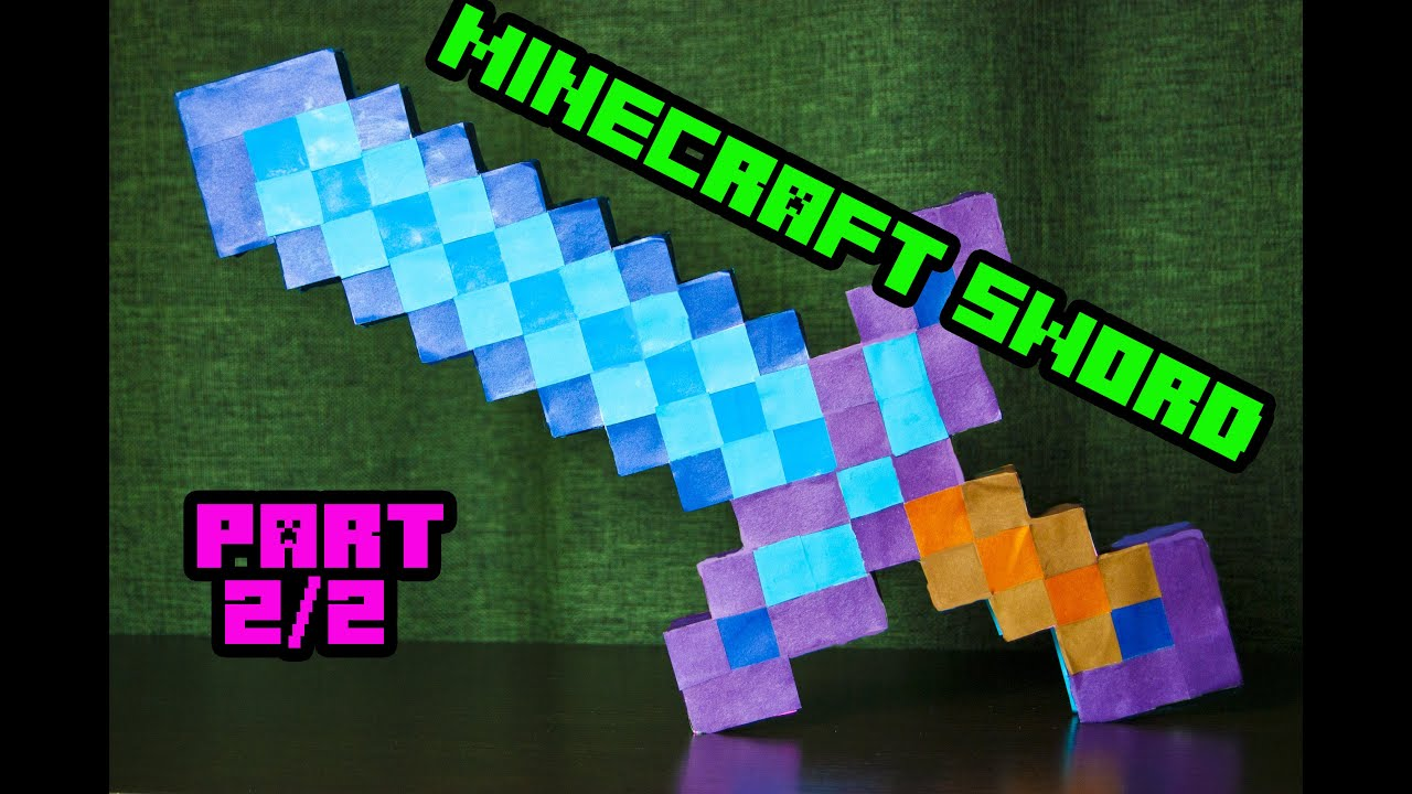 How to make paper minecraft sword 2/2 - YouTube - photo#6