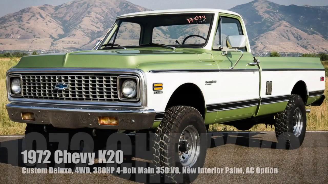 1972 Chevy K20 Custom Deluxe, New 380HP 4-Bolt Main V8 ...