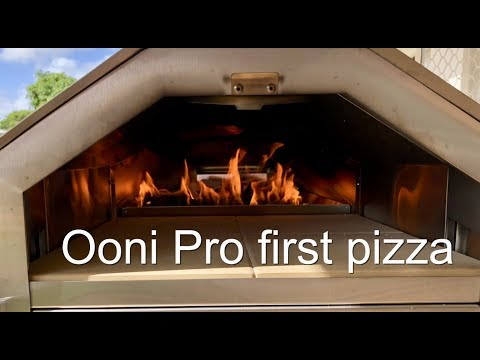 My first woodfired pizza in a Ooni Pro woodfired Oven