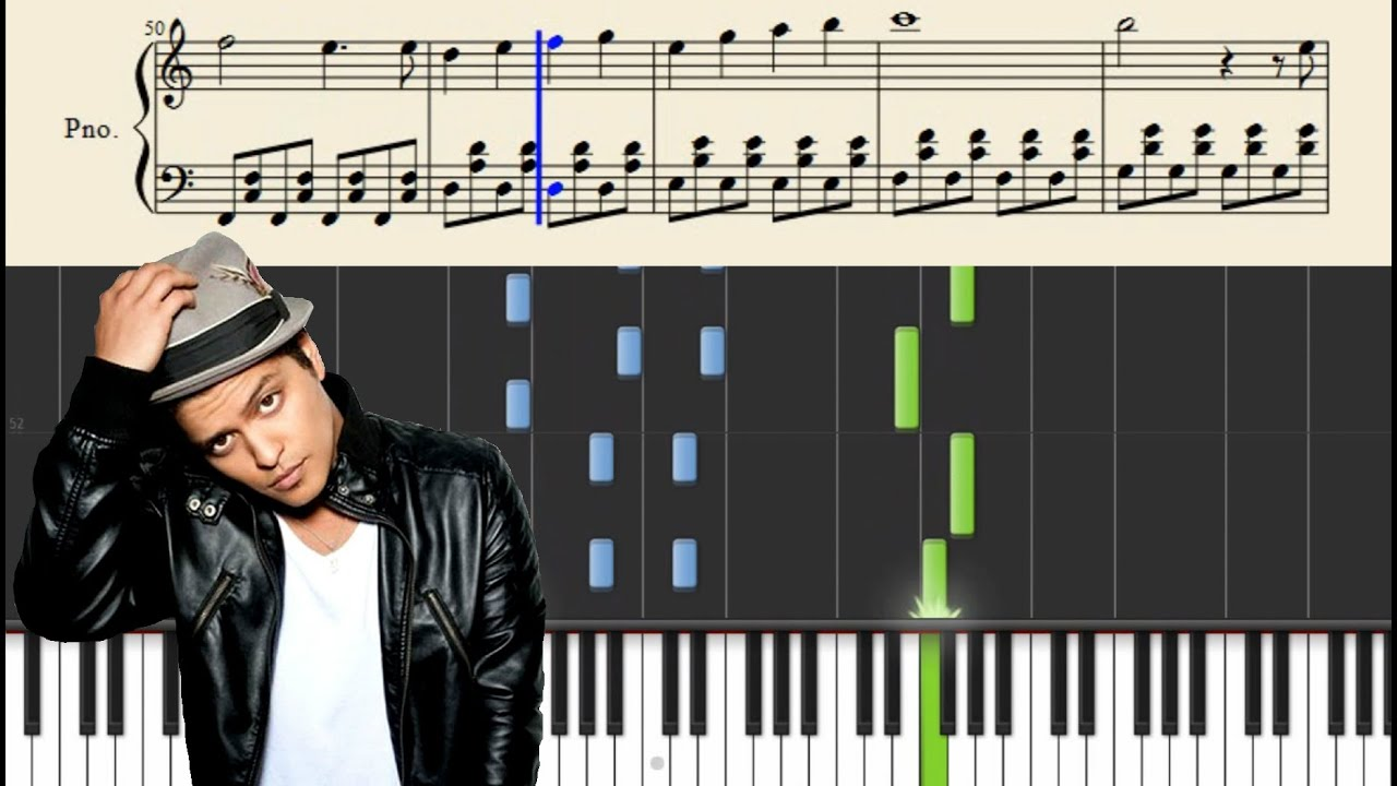 Bruno Mars Count On Me Easy Piano Tutorial Youtube