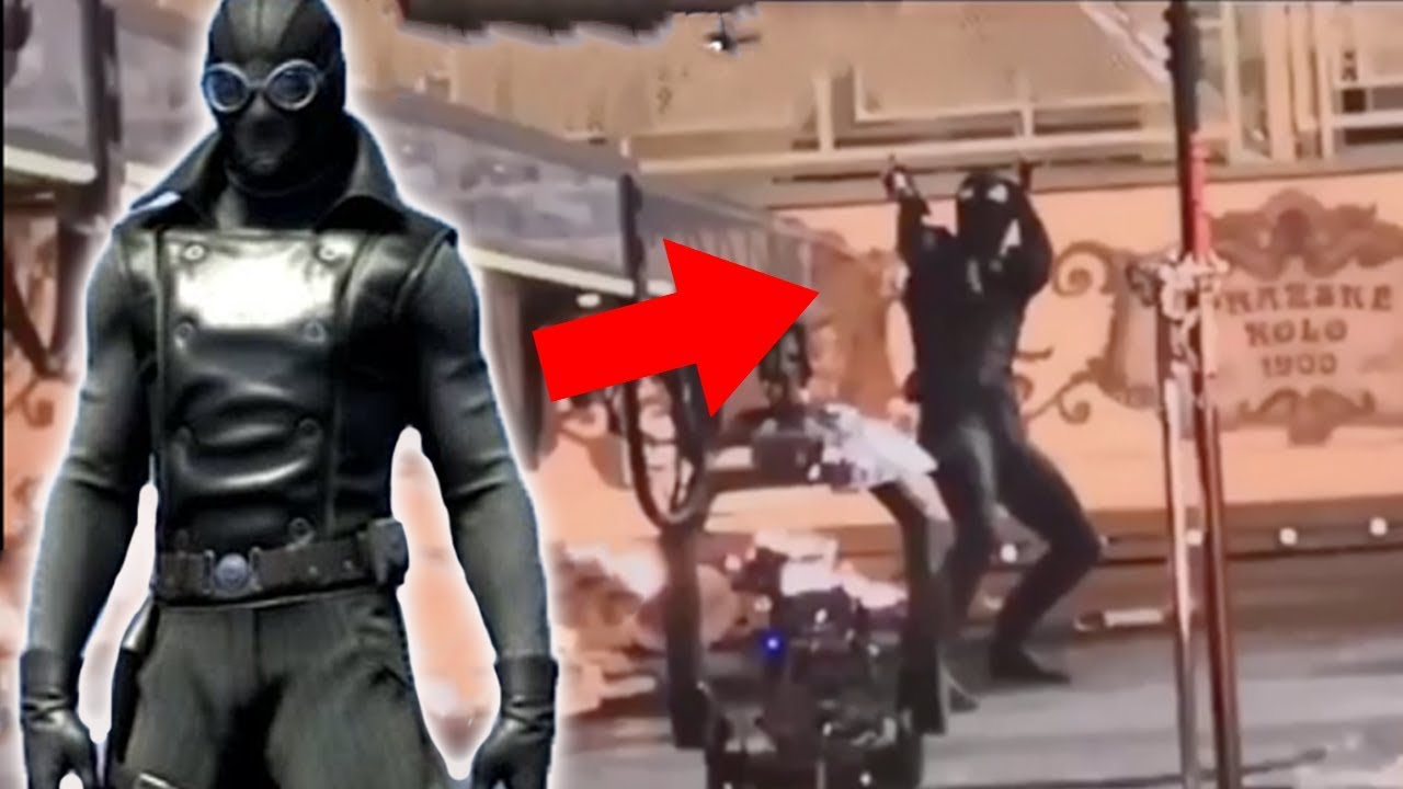 spider-man stealth noir suit - leaked far from home video - youtube