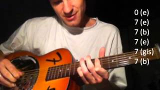 Setting me up (Dire Straits) in an open tuning tutorial