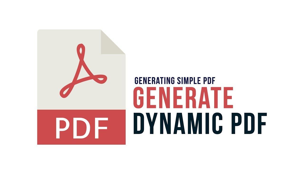 Generate Dynamic PDF in PHP : Generating Simple PDF - Part 2