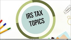 Topic 356   Decedents final U.S. federal tax return