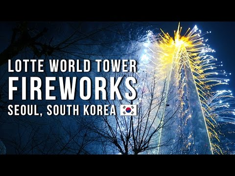 LOTTE WORLD TOWER FIREWORKS 2017 롯데월드타워 불꽃축제 Seoul, South Korea 🇰🇷