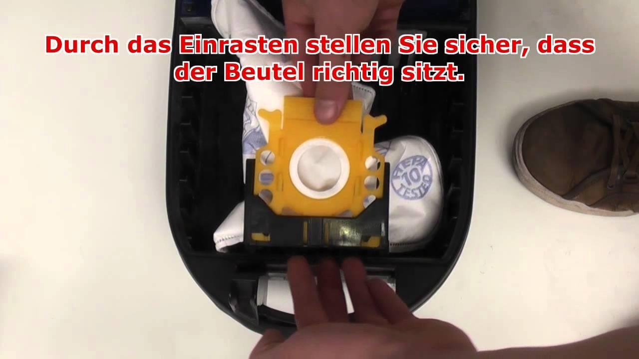 Swirl Staubsaugerbeutel wechseln - YouTube
