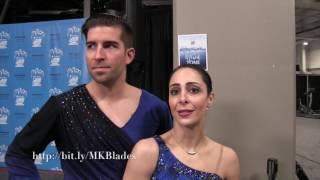 Deanna Stellato and Nathan Bartholomay Post SP  2017 U S  Figure Skating Championships