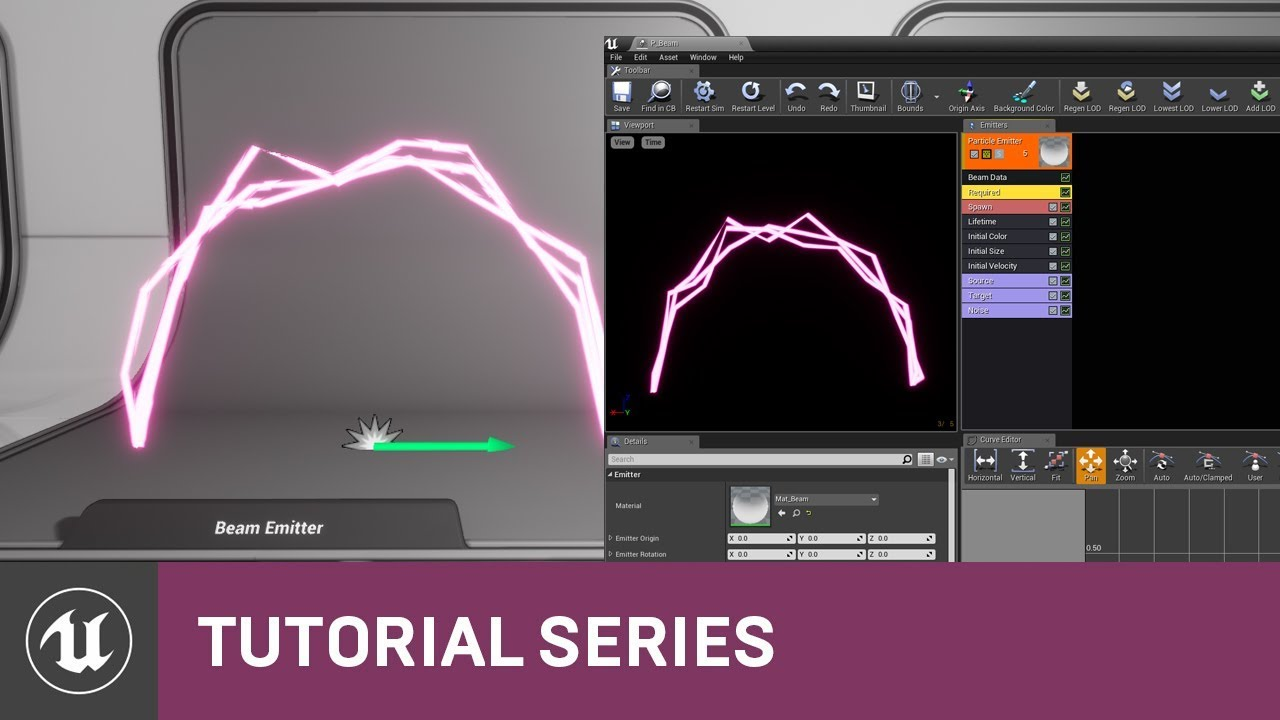 Intro to Cascade: Creating a Beam Emitter | 07 | v4 2 Tutorial Series |  Unreal Engine