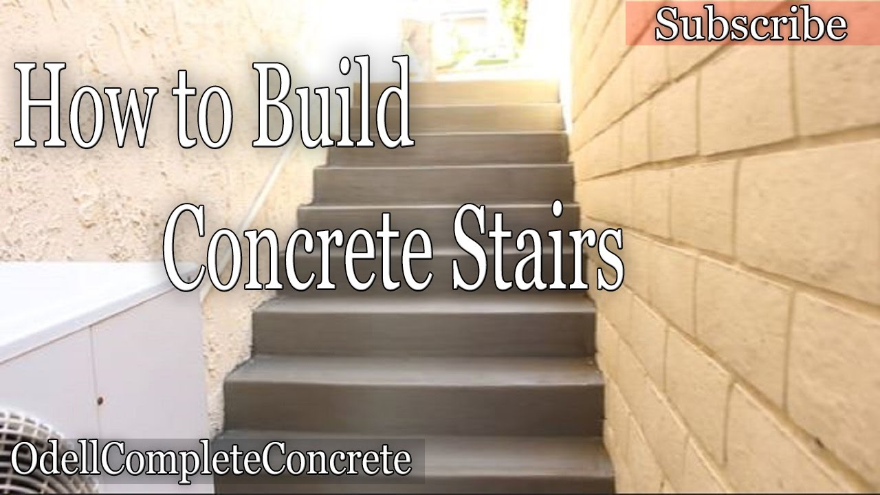 How To Build And Pour Concrete Stairs   YouTube