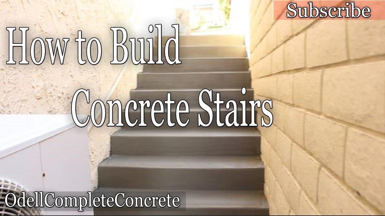 How To Build And Pour Concrete Stairs Youtube   Precast Concrete Basement Steps Near Me   Basement Ideas   Concrete Slab   Basement Entrance   Bilco Doors   Walkout Basement