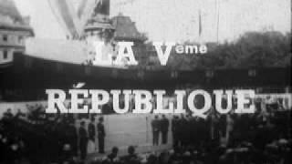 De gaulle présente la nouvelle République aux français le 4 septembre 1958