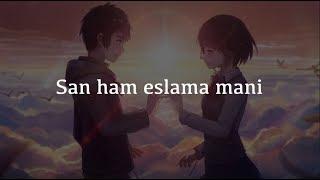 """Eslama Mani"" Shoxruz Abadiya (Lyrics) (Matni) (Tekst)"