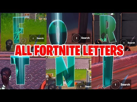 Collect FORTNITE Letters Hidden In Loading Screen - All Fortnite Letters Locations SEASON 11