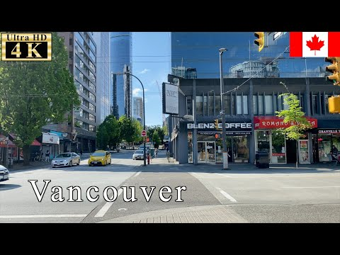 🇨🇦【May 5th】Downtown At Quarantine Time - Vancouver Spring Walk - 【4K 60fps】
