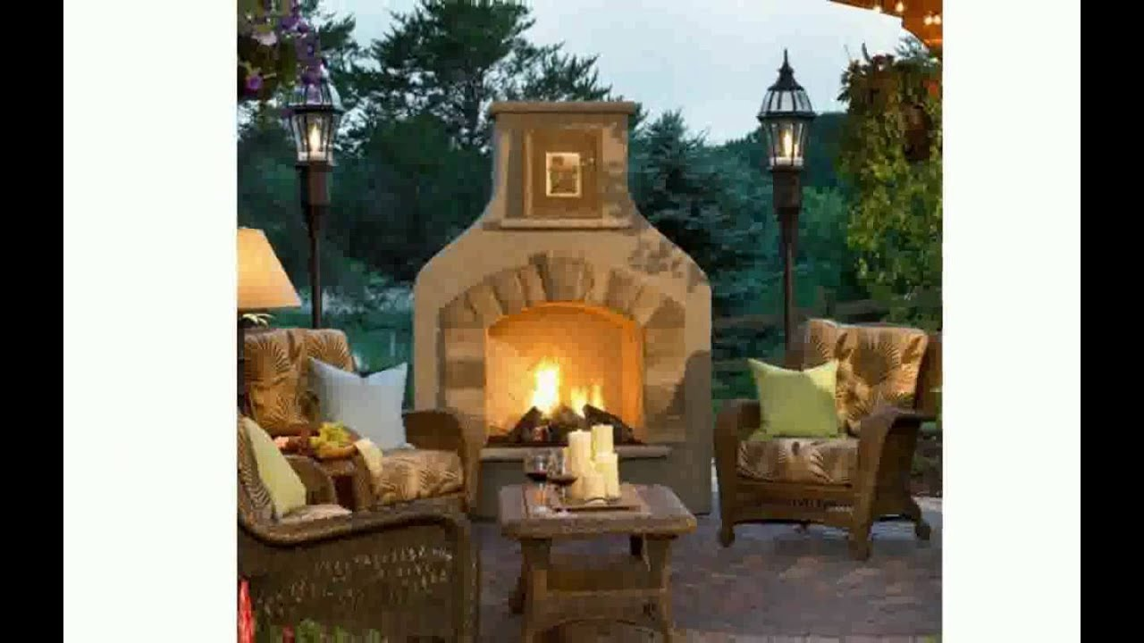 Outdoor Fireplace Designs - YouTube
