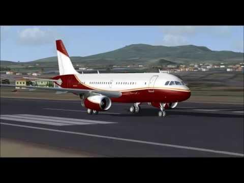 AIRBUS A319 CJ LUSIJETS TAKE OFF FROM PONTA DELGADA FS9 HD
