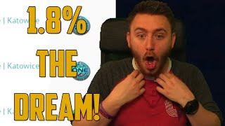 One of GoldGloveTV's most viewed videos: 1.8% THE DREAM! (CSGO Jackpot - Skin Gambling)