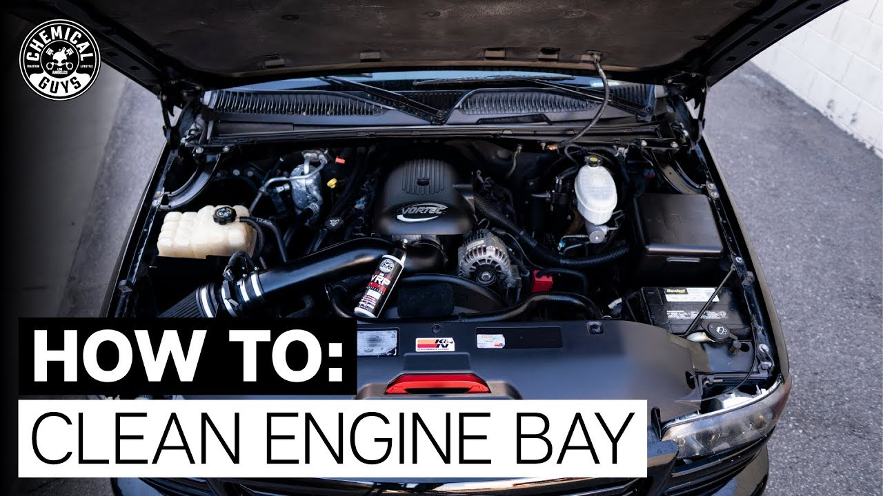 How To Clean Engine Bay Gmc Sierra Truck Chemical Guys Youtube