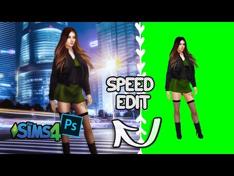 The Sims 4 I Sims 4 Photoshop Speed Edit ♡