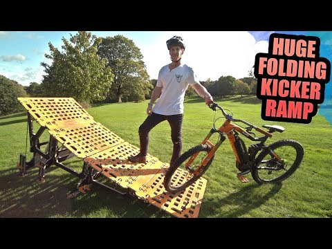 MY NEW FOLDING MTB KICKER RAMP IS HUGE!