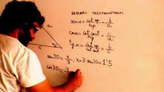 Razones trigonometricas Calcular hipotenusa dado cateto y angulo Academia Usero Estepona