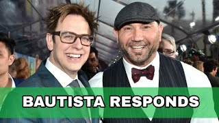 BAUTISTA RESPONDS TO JAMES GUNN PICTURES