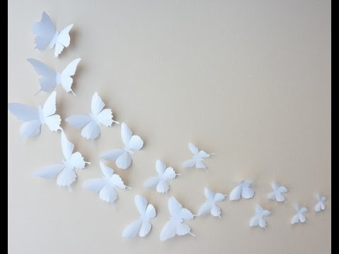 como hacer mariposas para decorar manualidades youtube