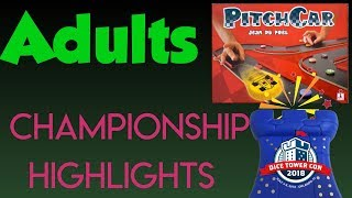 Adults' Pitch Car Championship Highlights - Dice Tower Con 2018