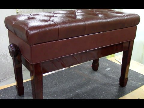 REVIEW: Adjustable Tufted Leather Piano Bench - From CPS Imports on eBay Amazon