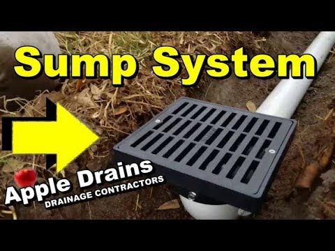 Back Yard Sump System, How to Install