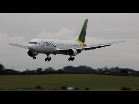 *Rare!* Camair Co Boeing 767-300ER Landing & Takeoff at Prestwick Airport