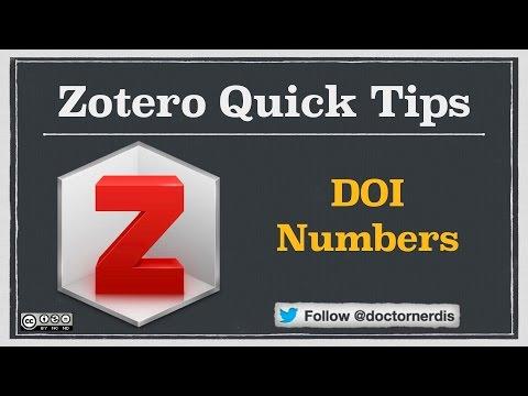 Zotero Quick Tip: Adding DOI Numbers