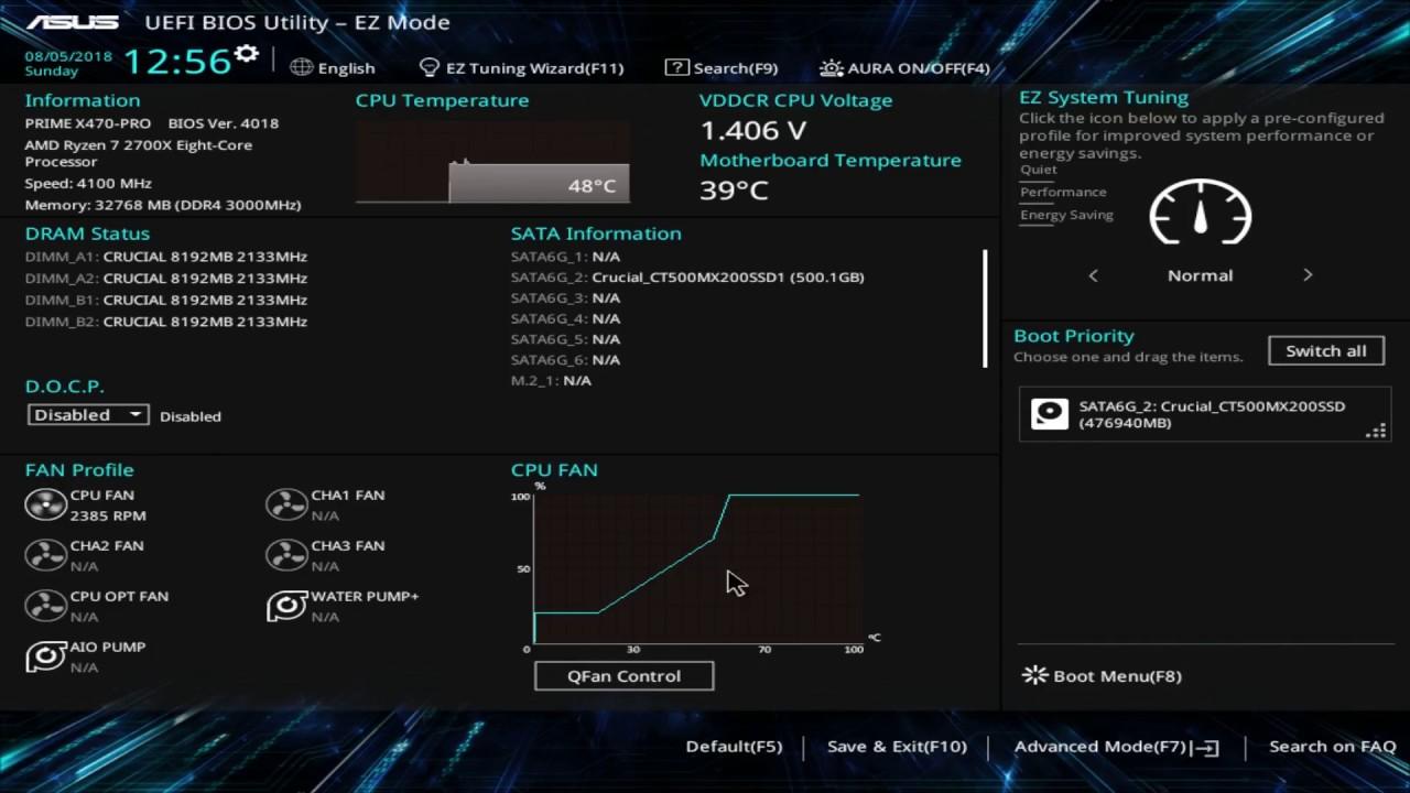 ASUS Prime X470-PRO BIOS Overview