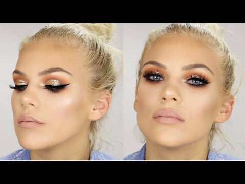 Client Makeup | Gold Warm Toned Full Glam Ft. Chloe Szep