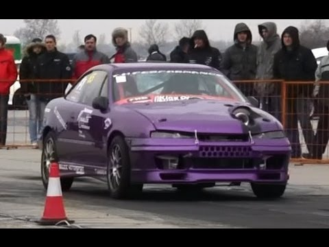 Opel Calibra Turbo 500 HP Vs. Chevrolet Corvette Drag Race HD