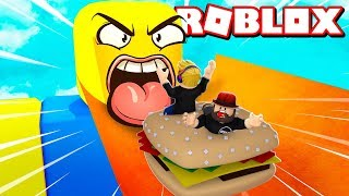 GET EATEN BY A GIANT NOOB in ROBLOX