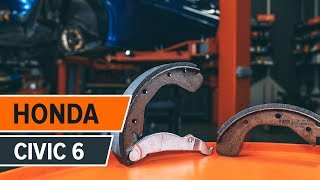 How to change Brake Drum on HONDA CIVIC VI Fastback (MA, MB) - online free video