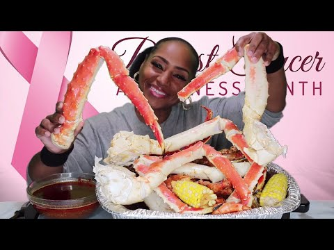 Thumbnail: Seafood Boil 14 KING CRAB, Tiger Shrimp⚠ Smacking Noises, Messy Eating