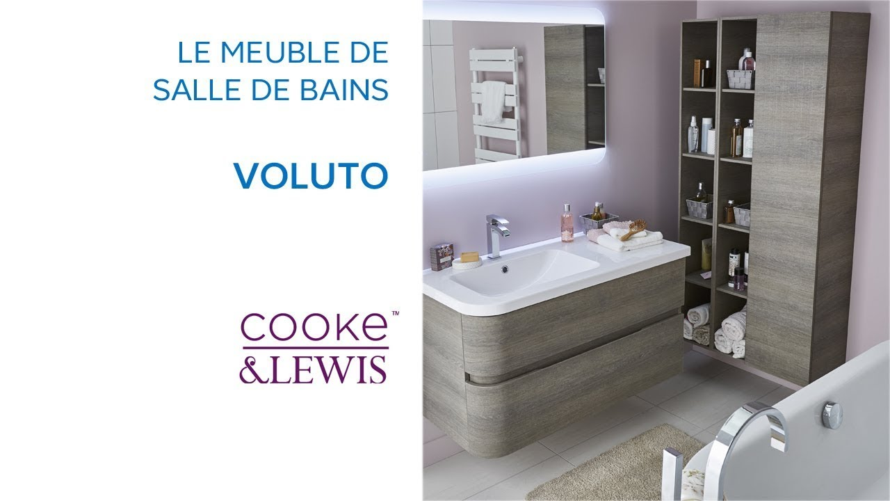 meuble de salle de bains voluto cooke lewis castorama youtube. Black Bedroom Furniture Sets. Home Design Ideas