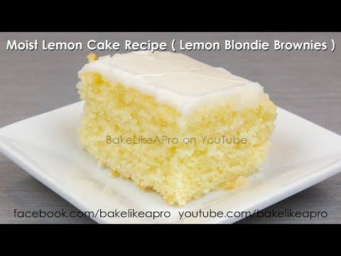 Super Moist Lemon Cake Recipe -  It's a Lemon Blondie Brownie