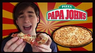 Papa John's Grilled Chicken Margarita Pizza-the Food Review-ep.64