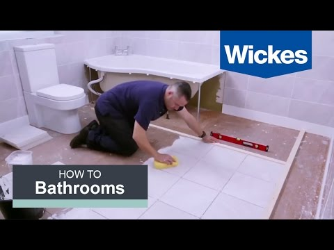 How to Tile a Bathroom Floor with Wickes