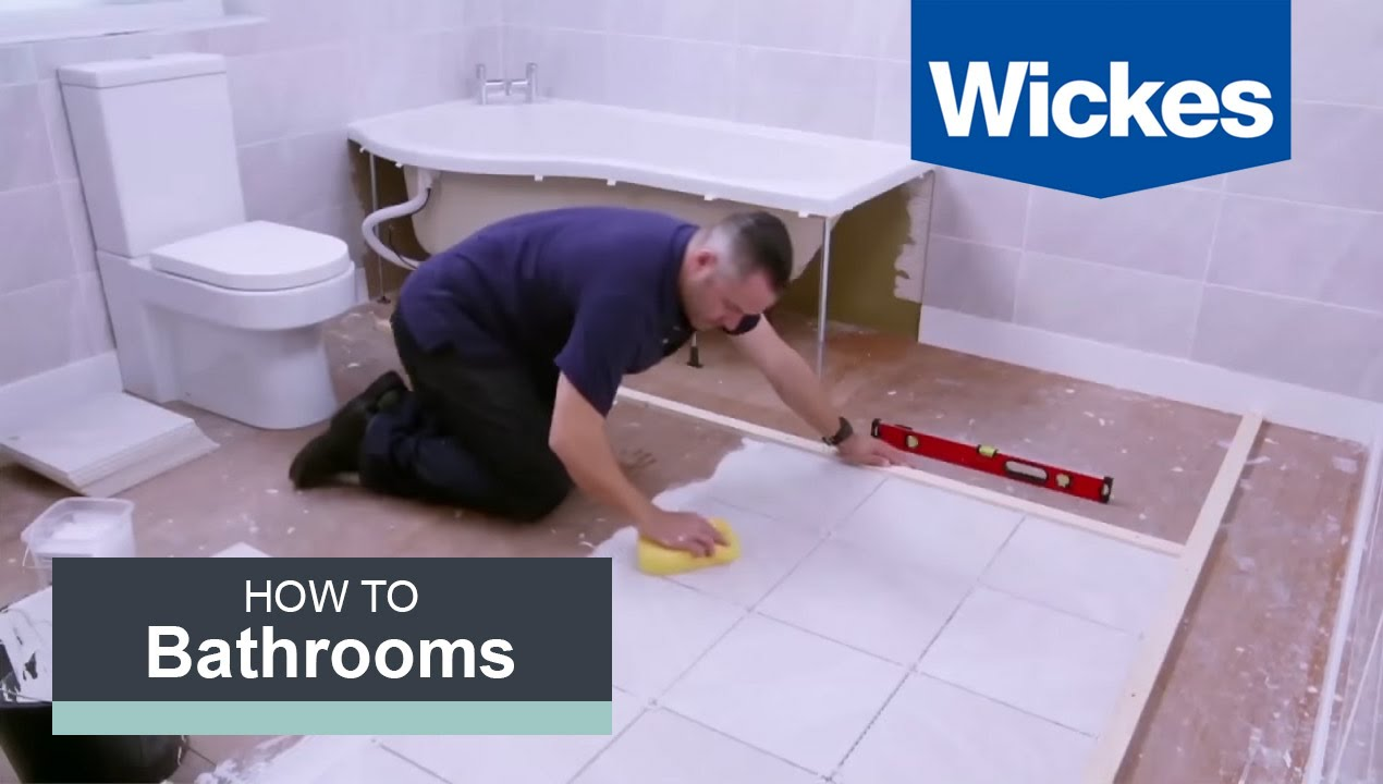 How to Tile a Bathroom Floor with Wickes - YouTube