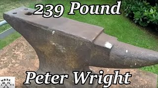 Restoration - 239lb Peter Wright Anvil | Iron Wolf Industrial