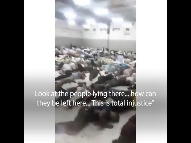 Yemeni man showed a video of the suffering of Yemenis in the deportation prison in Saudi Arabia