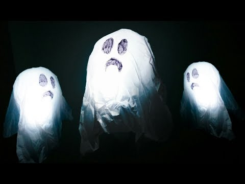 Halloween Decorations - How To Make a Floating Ghosts