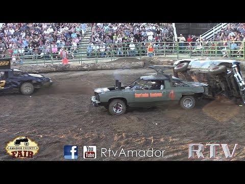 Destruction Derby Amador Fair 2017 (ROLLOVER!!!)
