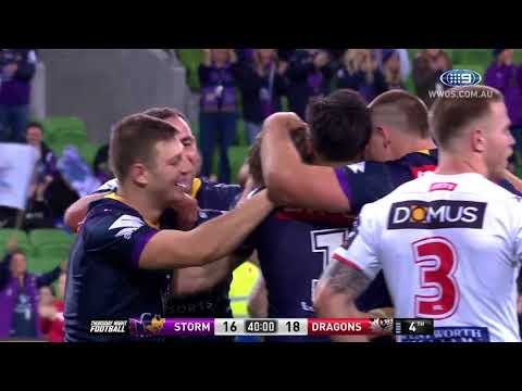 NRL Highlights: Melbourne Storm v St George Illawarra Dragons - Round 17